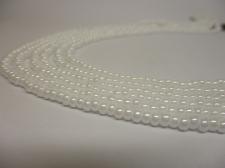Czech Seed Beads 8/0 Pearl White 3str x +/-20cm