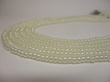 Czech Seed Beads 8/0 Pearl Cream 3str x +/-20cm