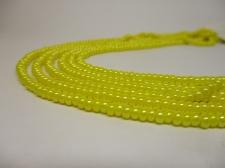 Czech Seed Beads 8/0 Pearl Yellow 3str x +/-20cm