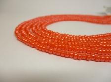 Czech Seed Beads 8/0 Pearl Orange 3str x +/-20cm