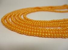 Czech Seed Beads 8/0 Pearl Lt Orange 3str x +/-20cm