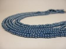 Czech Seed Beads 8/0 Pearl Blue 3str x +/-20cm