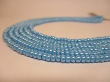 Czech Seed Beads 8/0 Pearl Turq 3str x +/-20cm