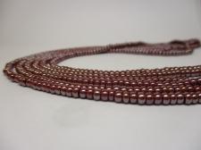 Czech Seed Beads 8/0 Pearl Brown 3str x +/-20cm