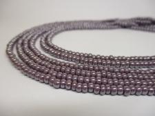 Czech Seed Beads 8/0 Pearl Lt Purple 3str x +/-20cm