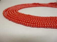 Czech Seed Beads 8/0 Pearl Red 3str x +/-20cm