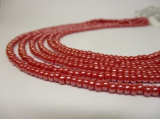 Czech Seed Beads 8/0 Pearl Dk Red 3str x +/-20cm