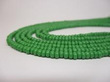Czech Seed Beads 8/0 Opaque Green 3str x +/-20cm