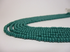 Czech Seed Beads 8/0 Opaque Dk Green 3str x +/-20cm