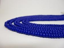 Czech Seed Beads 8/0 Opaque Dk Blue 3str x +/-20cm