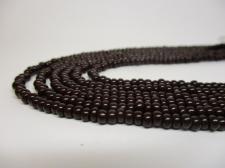 Czech Seed Beads 8/0 Opaque Dk Brown 3str x +/-20cm