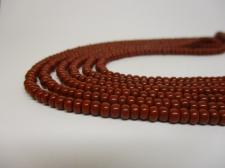 Czech Seed Beads 8/0 Opaque Brown 3str x +/-20cm