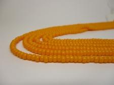Czech Seed Beads 8/0 Opaque Lt Orange 3str x +/-20cm