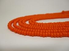 Czech Seed Beads 8/0 Opaque Orange 3str x +/-20cm