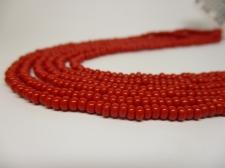 Czech Seed Beads 8/0 Opaque Red 3str x +/-20cm