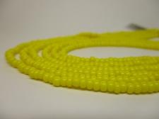 Czech Seed Beads 8/0 Opaque Yellow 3str x +/-20cm