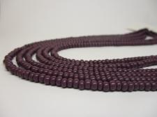 Czech Seed Beads 8/0 Opaque Dk Pu 3str x +/-20cm