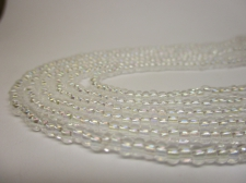 Czech Seed Beads 8/0 Crystal Clear AB 3str x +/-20cm