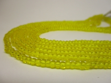 Czech Seed Beads 8/0 Crystal Yellow 3str x +/-20cm