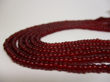 Czech Seed Beads 8/0 Crystal Red 3str x +/-20cm
