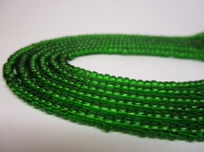 Czech Seed Beads 8/0 Crystal Green 3str x +/-20cm