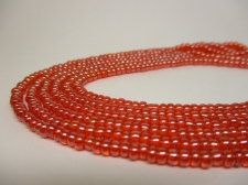 Czech Seed Beads 8/0 Luster Orange 3str x +/-20cm