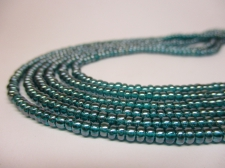 Czech Seed Beads 8/0 Luster Blue 3str x +/-20cm