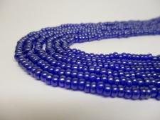 Czech Seed Beads 8/0 Luster Dk Blue 3str x +/-20cm