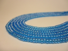 Czech Seed Beads 8/0 Luster Turq 3str x +/-20cm