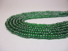 Czech Seed Beads 8/0 Luster Green 3str x +/-20cm