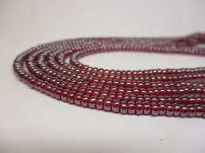 Czech Seed Beads 8/0 Luster Red 3str x +/-20cm