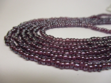 Czech Seed Beads 8/0 Luster Purple 3str x +/-20cm