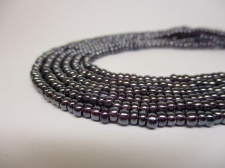 Czech Seed Beads 8/0 Luster Lt Purple 3str x +/-20cm
