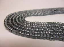 Czech Seed Beads 8/0 Luster Lt Grey 3str x +/-20cm