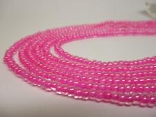 Czech Seed Beads 8/0 Inner Pink 3str x +/-20cm