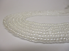 Czech Seed Beads 8/0 Inner White 3str x +/-20cm