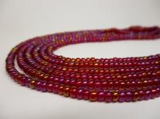Czech Seed Beads 8/0 Oil Slick Pink 3str x +/-20cm