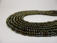 Czech Seed Beads 8/0 Oil Slick Brown 3str x +/-20cm