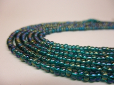 Czech Seed Beads 8/0 Oil Slick Blue 3str x +/-20cm