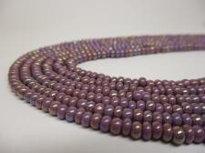Czech Seed Beads 8/0 Oil Slick Purple 3str x +/-20cm