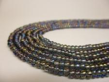 Czech Seed Beads 8/0 Oil Slick Lt Grey 3str x +/-20cm