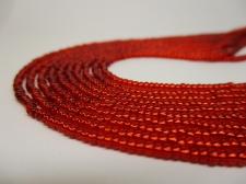 Czech Seed Beads 11/0 Foil Red 5str x +/-20cm