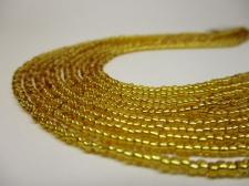 Czech Seed Beads 11/0 Foil Gold 5str x +/-20cm