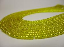 Czech Seed Beads 11/0 Foil Yellow 5str x +/-20cm
