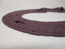 Czech Seed Beads 11/0 Opaque Purple 5str x +/-20cm