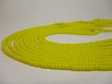 Czech Seed Beads 8/0 Opaque Yellow 5str x +/-20cm