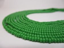 Czech Seed Beads 8/0 Opaque Green 5str x +/-20cm