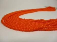 Czech Seed Beads 8/0 Opaque Orange 5str x +/-20cm