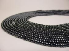 Czech Seed Beads 11/0 Hamatite 5str x +/-20cm