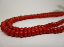 Czech Seed Beads 5/0 Opaque Red 1str x +/-20cm